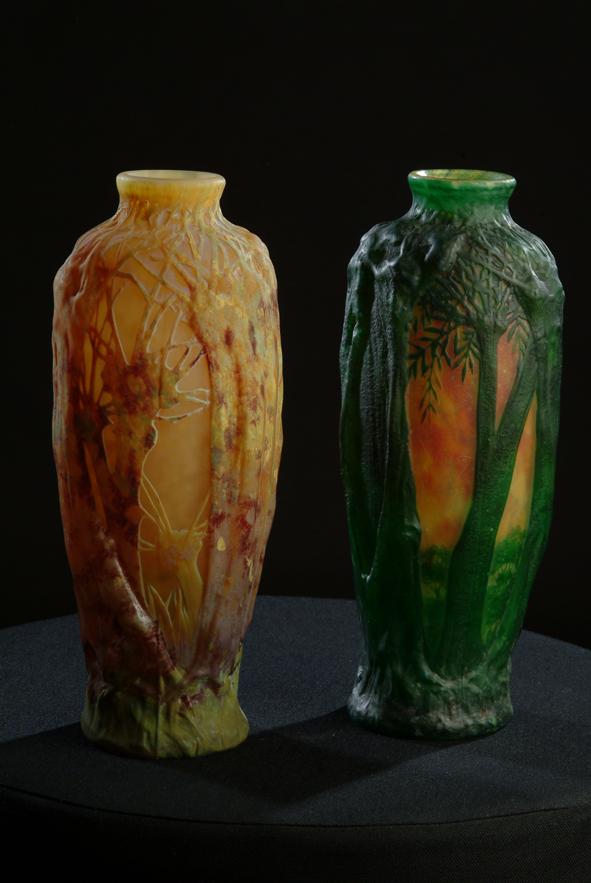 Tiny Esveld Tinyesveld Daum Nancy Glass Vases Lamps